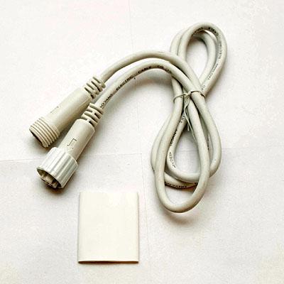 EASY FIX predlžovací kábel 1 m, exteriér, biela farba